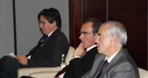 João Cotta, Presidente da Associação Empresarial da Região de Viseu (AIRV), Carlos Marta, Presidente da Comunidade Intermunicipal Dão Lafões e Francisco Banha