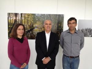 Eu com os biólogos Ana Fonseca e José Conde