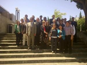 Responsáveis dos Municípios de Valparaíso (México), Pimampiro (Equador), Carangas e Paysandú (Uruguay), Fundação AMIBE-CODEM (Bolívia) e GesEvolution