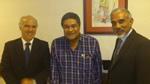 Com Eusébio e Virgilio Sinith, Vice Ministro da Educação de Timor Leste
