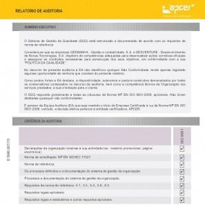 Relatório de Auditoria (2014) - Sumário Executivo