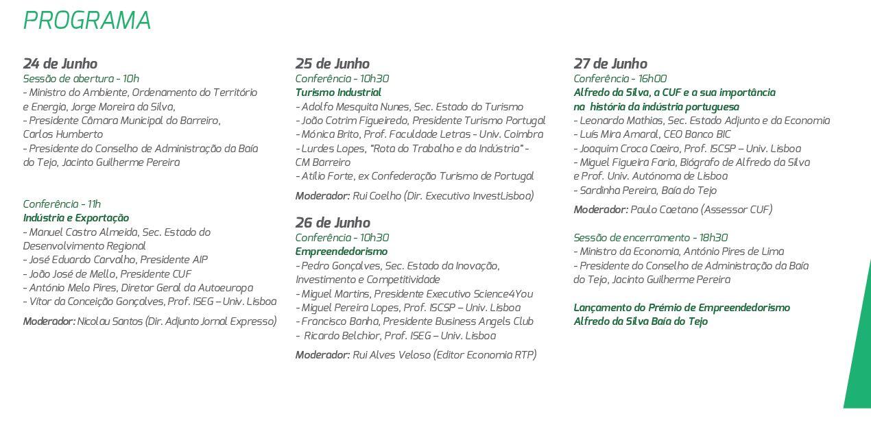 Programa da Homenagem a Alfredo da Silva
