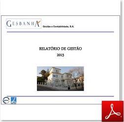 Relatório de Gestão Gesbanha 2013