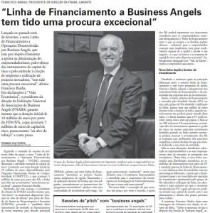 Linha de Financiamento a Business Angels tem tido uma procura excecional