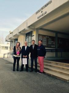 Com a Dra. Sandra Figueiredo e o Dr. Nuno Ferreira, Responsáveis do Serviço de Atividades Económicas e Apoio ao Empreendedorismo e Turismo, e o Professor Edgar Borges.