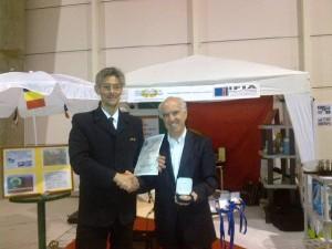 Com o Eng.º Fernando Maldonado Lopes (Presidente da Associação Portuguesa de Inventores, Inovadores e Criativos)