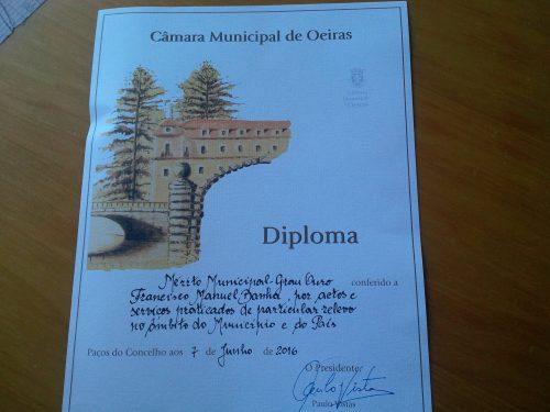 Medalha de Mérito Municipal – Grau Ouro