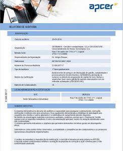 Relatório de Acompanhamento nos Termos da NP EN ISO9001:2008