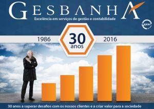 Brochura 30 anos Gesbanha