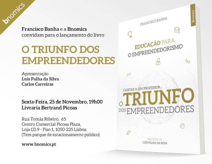"Convite Livro ""O Triunfo dos Empreendedores"""