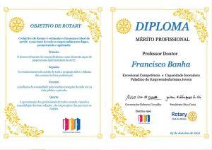 Diploma Mérito Profissional Rotary Club Oeiras