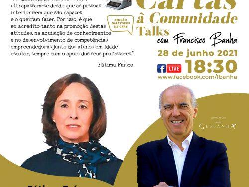 Talks Cartas à Comunidade - Fátima Faísco
