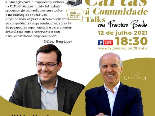 Talks Cartas à Comunidade - Hélder Henriques