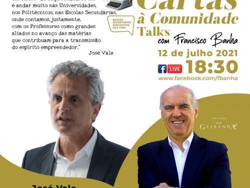 Talks Cartas à Comunidade - José Vale